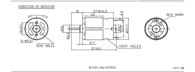 Donghui 6000 rpm motor 12 volt elektrische motor voor for 6000 rpm ac motor