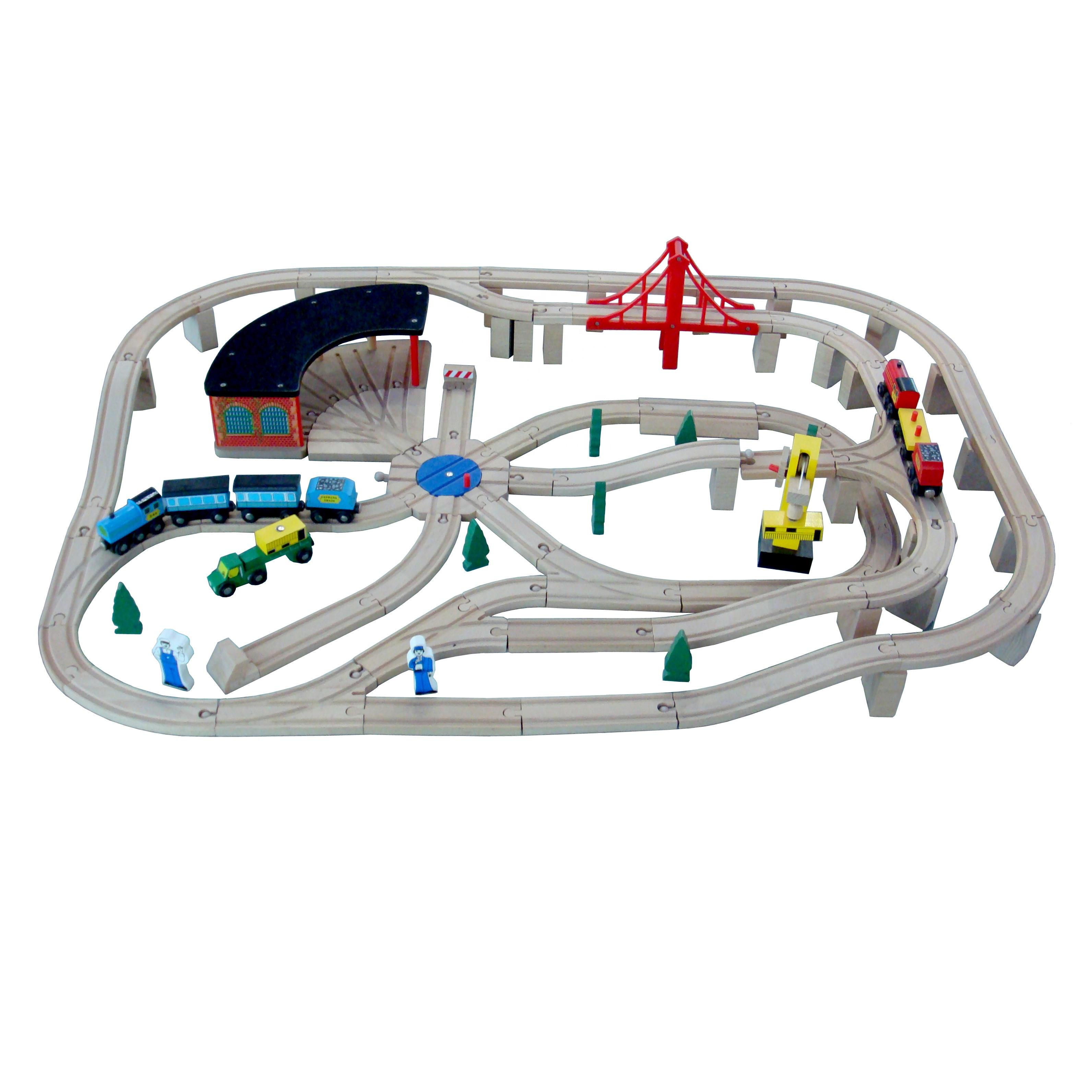 Деревянный набор поездов, популярная модель поезда, 3d поезд, симулятор вождения, игры с орбитами для детей