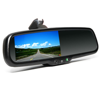 2017 Wholesale Multifunction 4.3 Inch 2 Way Video Input Smart Car Rearview Mirror
