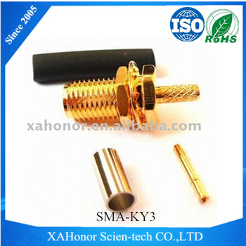 SMA bulkhead waterproof connector straight female rf connector SMA-KY3