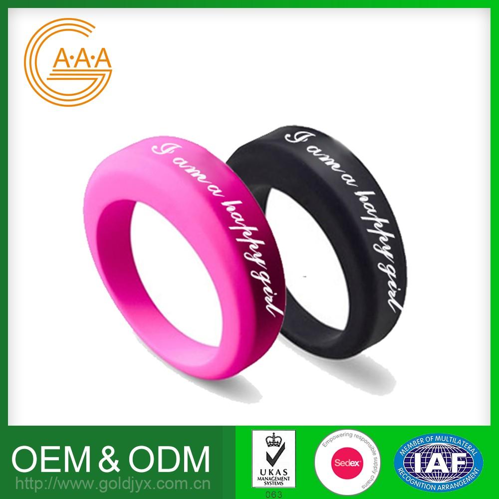 Fashion Custom Silicone Finger Wedding Ring - Buy Silicone Finger ...