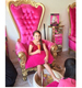 Pretty princess little girl throne chair , luxury royaty pedicure chair
