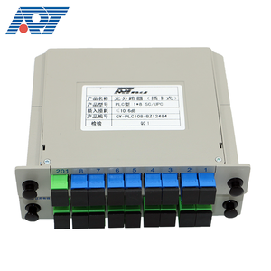 High reliability tray plug in type mounted splitter easy to insert and pull out 8 16 channel fiber optic PLC splitter
