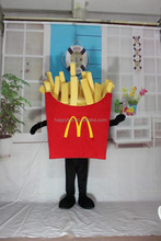 Custom made mascot costume fast food French fries adult costume
