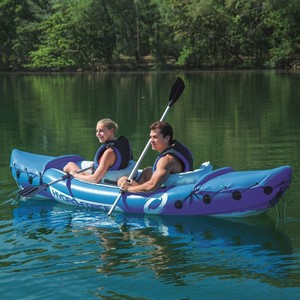 "Bestway 65077 126"" x 35"" inflatable Kayak Fishing Boat 2 person"