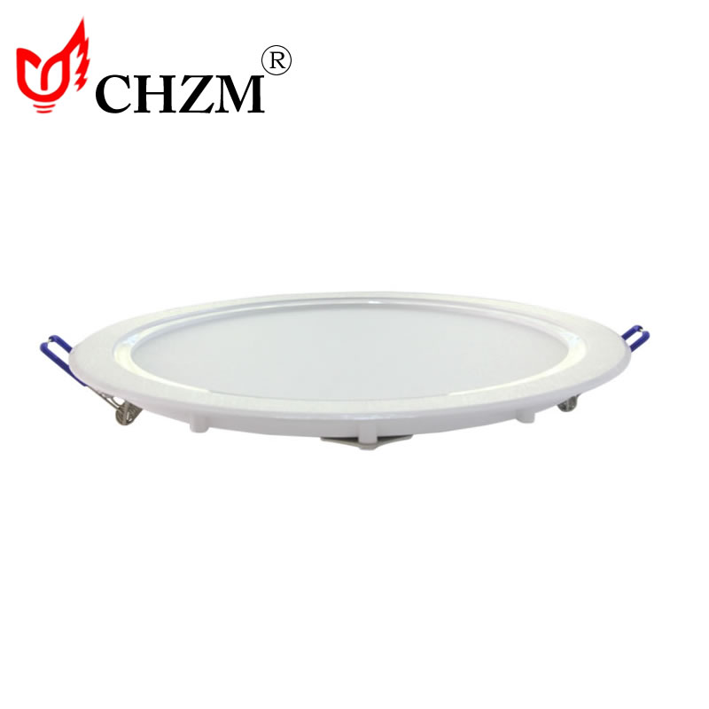 2015 CE Rohs round concealed 220V 6W led <strong>flat</strong> ceiling panel light 6400K