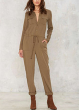 Laatste Ontwerp <span class=keywords><strong>Mode</strong></span> Militaire Groene Jumpsuit 2016 <span class=keywords><strong>Overalls</strong></span> Vrouw HSJ2564