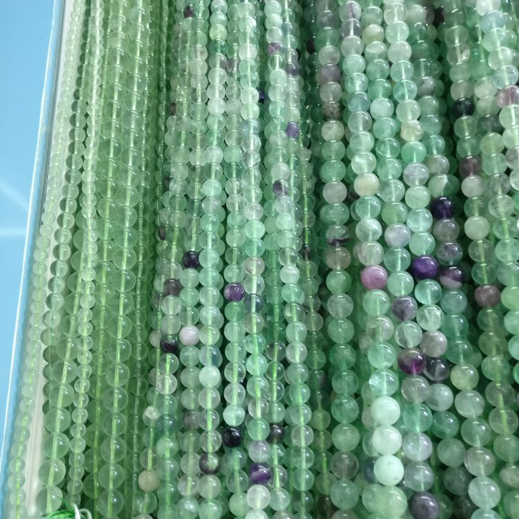 High Quality Natural Loose Stone Size 8mm Fluorite Stones Gemstone Bead Strand