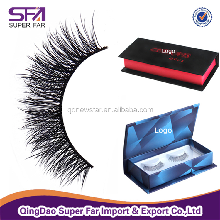 Private Label Package 3D Mink False Eyelash with glue
