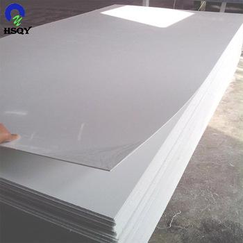 Opaque Grain White Pvc Rigid Plastic Sheet For Playing