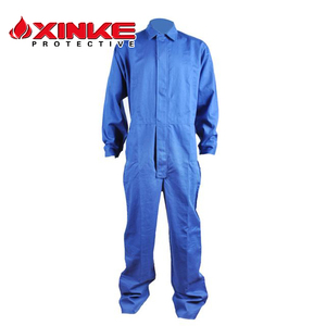 Cotton Fire Retardant Coverall used heat protective one piece boiler suit