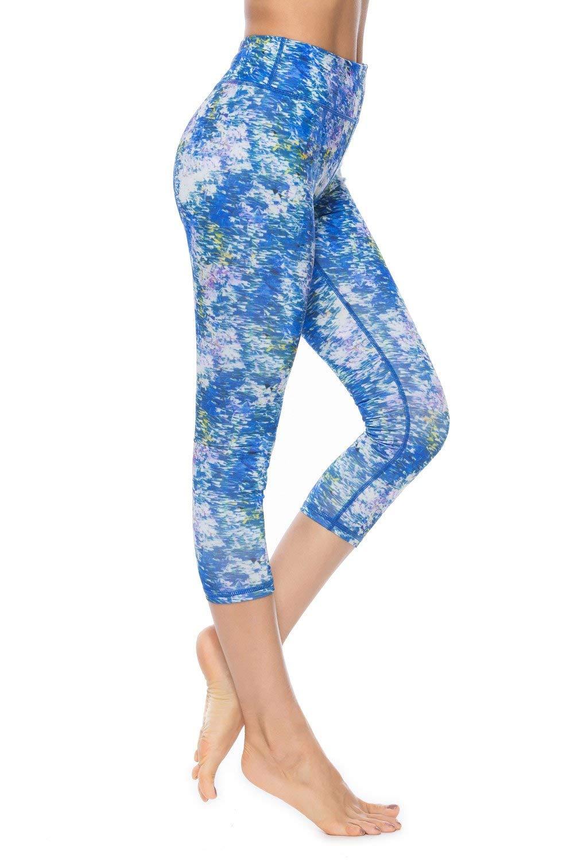 15ea4bce38b00e Get Quotations · SOUTEAM Women High Waist Pocket Leggings Stretchy  Watercolor Teens Sports Yoga Leggings