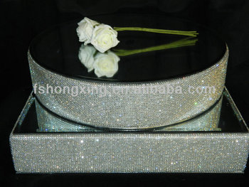 Modern Design Factory Sell Wedding Cake Stand Crystal Crystal Stands