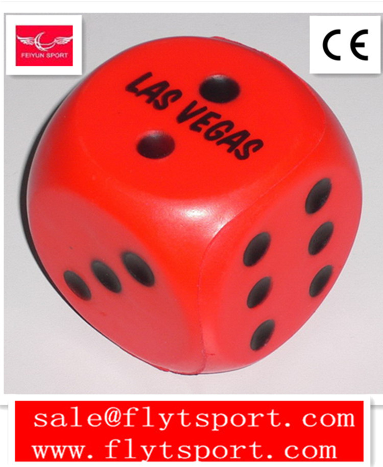 Anti Stress Dice,Dice Shape PU Stress Ball