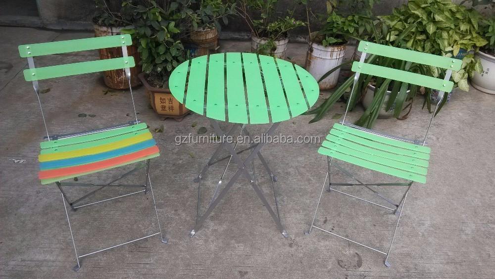 Patio Bistro set liquidación mesa plegable y sillas al aire libre ...