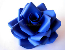 Blue Rose Flower Marriage Decoration Paper Flower Wall Backdrop Wedding Flower