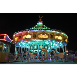 World Fun Attractions 38 seats golden merry go round for carousel park