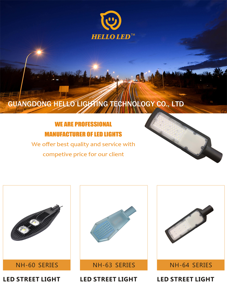 Streamline design cheap price IP65 outdoor slim led street light 50w road light