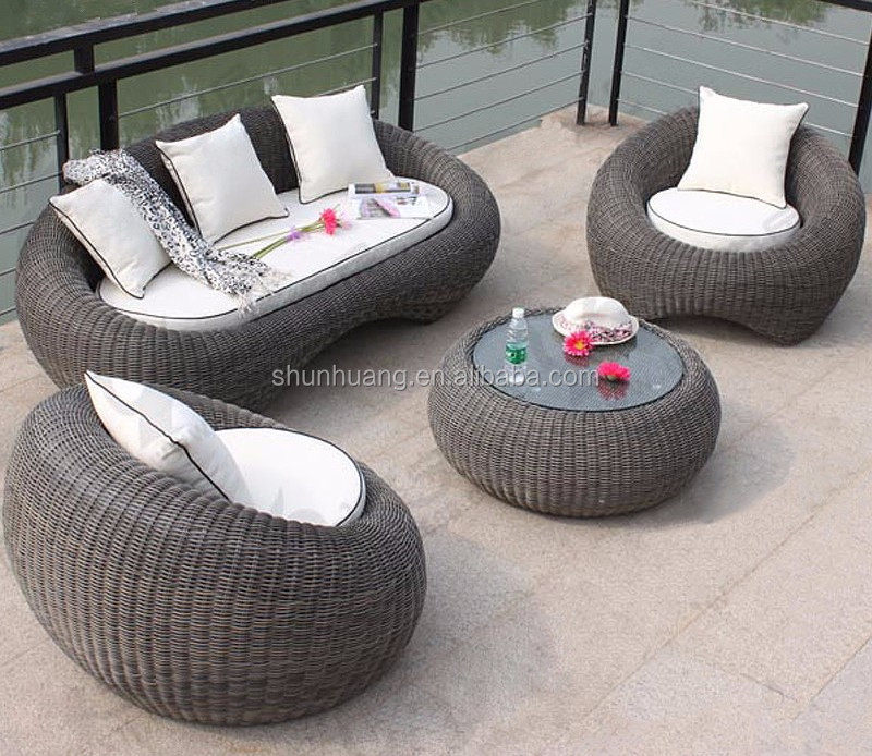 Egg Shaped Table garden round rattan sofa egg shape wicker sofa sets 3 piece - buy