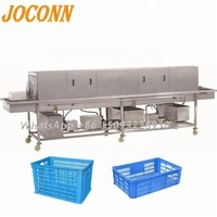 Egg Tray Washing Machine With lower price /automatic vegetable plastic crate washer/seafood pallet box washing machine