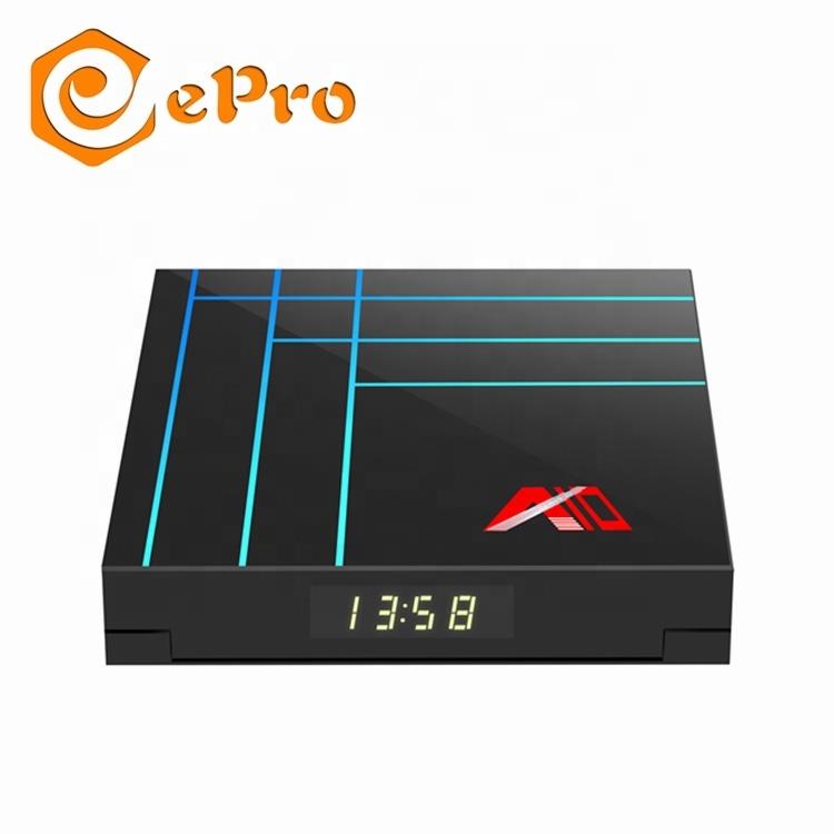 EPro Più Poco Costoso tv box A10 RK3318 2G 16G o 4G 32G o 4G 64G android 9.0 smart tv box 4 K set top box A10