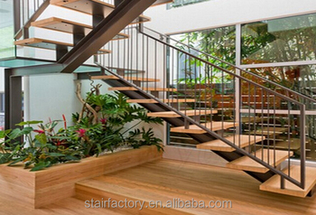 Moderne indoor zolder prefab metalen gebruikt hout trappen single