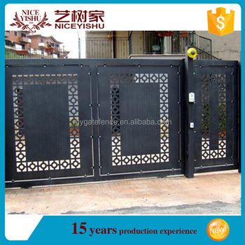 China Factory Latest Front Modern Laser Cut Gate Design