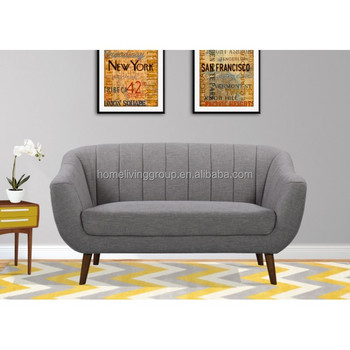 Modern Sofa Furniture LOVESEAT Hotel Sofa/office Waiting Room Sofa In Dark  Gray Linen And