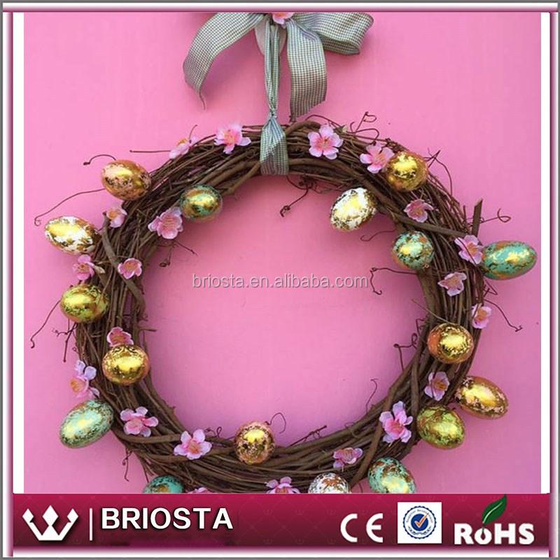 Wholesale colorful decor pastel easter egg wreath buy for Decor international wholesale