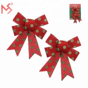 Christmas decor outdoor decorations pvc red bowknot