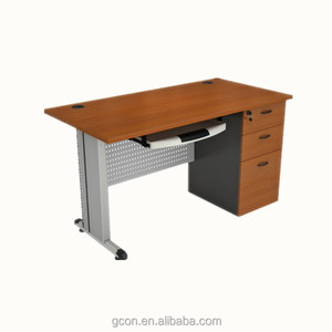 WOOD &METAL study table w/ locking drawer GCON GF938-151