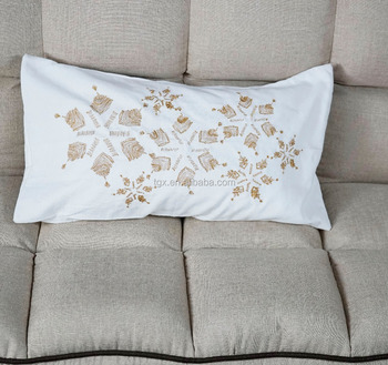 Wholesale Chain Stitch And Plain Stitch Cushion Pillow Cover Sublimation  Cushion Cover - Buy Sublimation Cushion Cover,Cross Stitch Cushion