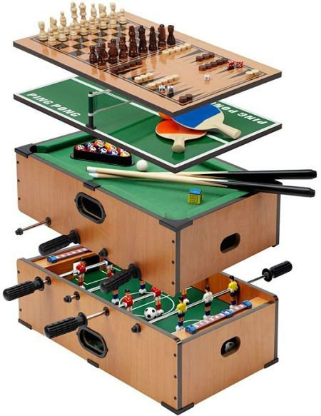 5 In 1 Multi Functional Table Game Included Soccer,pool Table,table Tennis