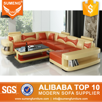 Alibaba Malaysia U Shape Yellow Orange Leather Sectional Sofa Set Modern  Design