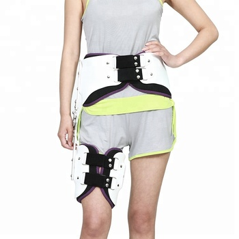 Orthopedic hip fracture abduction brace orthosis protector