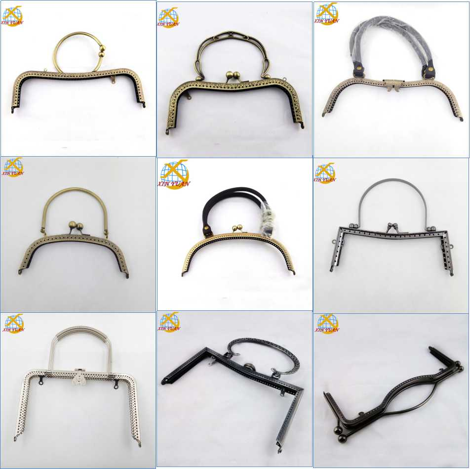 Cheap Price  7.6*6.5cm  Bronze Kiss Lock Metal Clasp Purse Frame for Coin Purse Sewing frame for Card purse