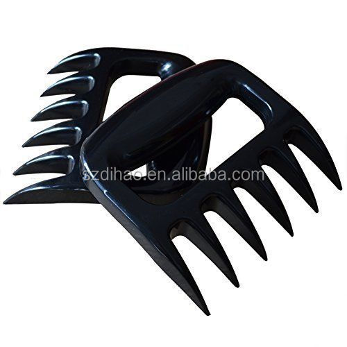 DIHAO 2 Pieces Stainless Steel BBQ Forks Handling Metal Paws Turkey Bear Claws 2015 New Arrival