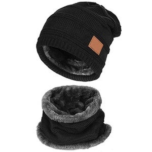 ea7297ca2f5 OEM Free Sample Men Women Warm Knitted Hats Thick Knit Skull Cap Winter  Beanie Hat Scarf