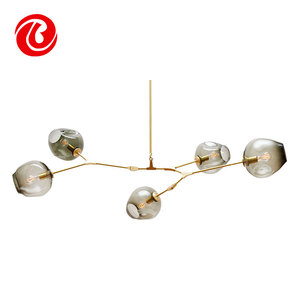 modern unique new hot sale house lighting Fancy glass Pendant lamp