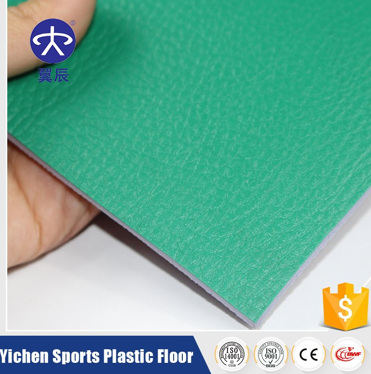 Excellent Quality Lychee Pattern PVC Sports Flooring for Indoor Basketball/tennis/badminton and volleyball Court Used
