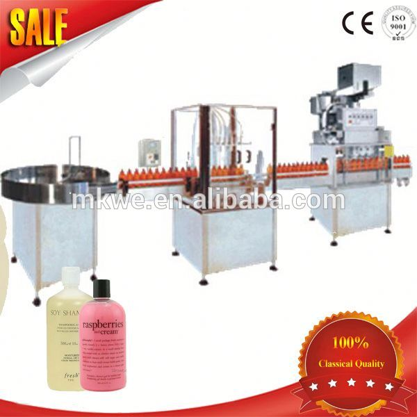 Straight Line High Speed Automatic Shampoo Liquid Filling Machine
