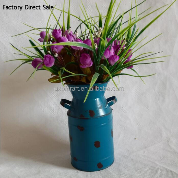 Metal Pot Bucket Planters Pot Assorted Colors For Plant and Flower