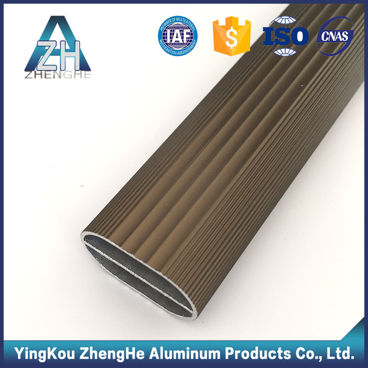 zhenghe 6063 t5 anodizing custom extruded aluminum oval tube profile