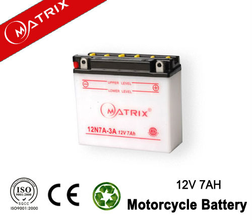 high quality 12v 12ah dry charge motorcycle battery for starting