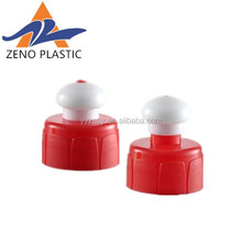 2017 red and white pull cap push 24mm 28mm pull cap plastic water bottle cap push pull hot sale in USA