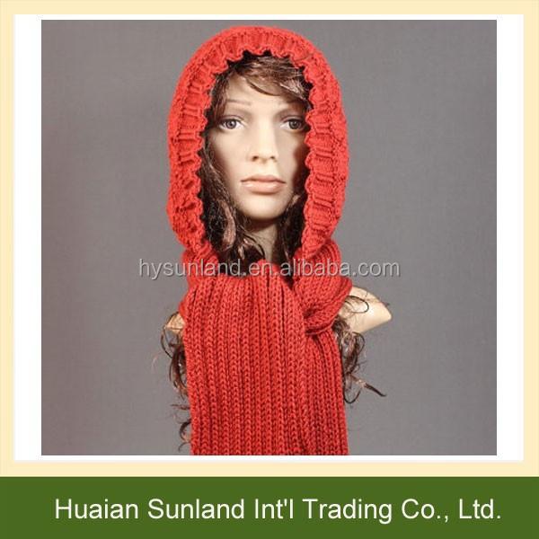 W 765 Frauen Mädchen Handmade Gestrickt Kapuzenschal Hut Für Häkeln