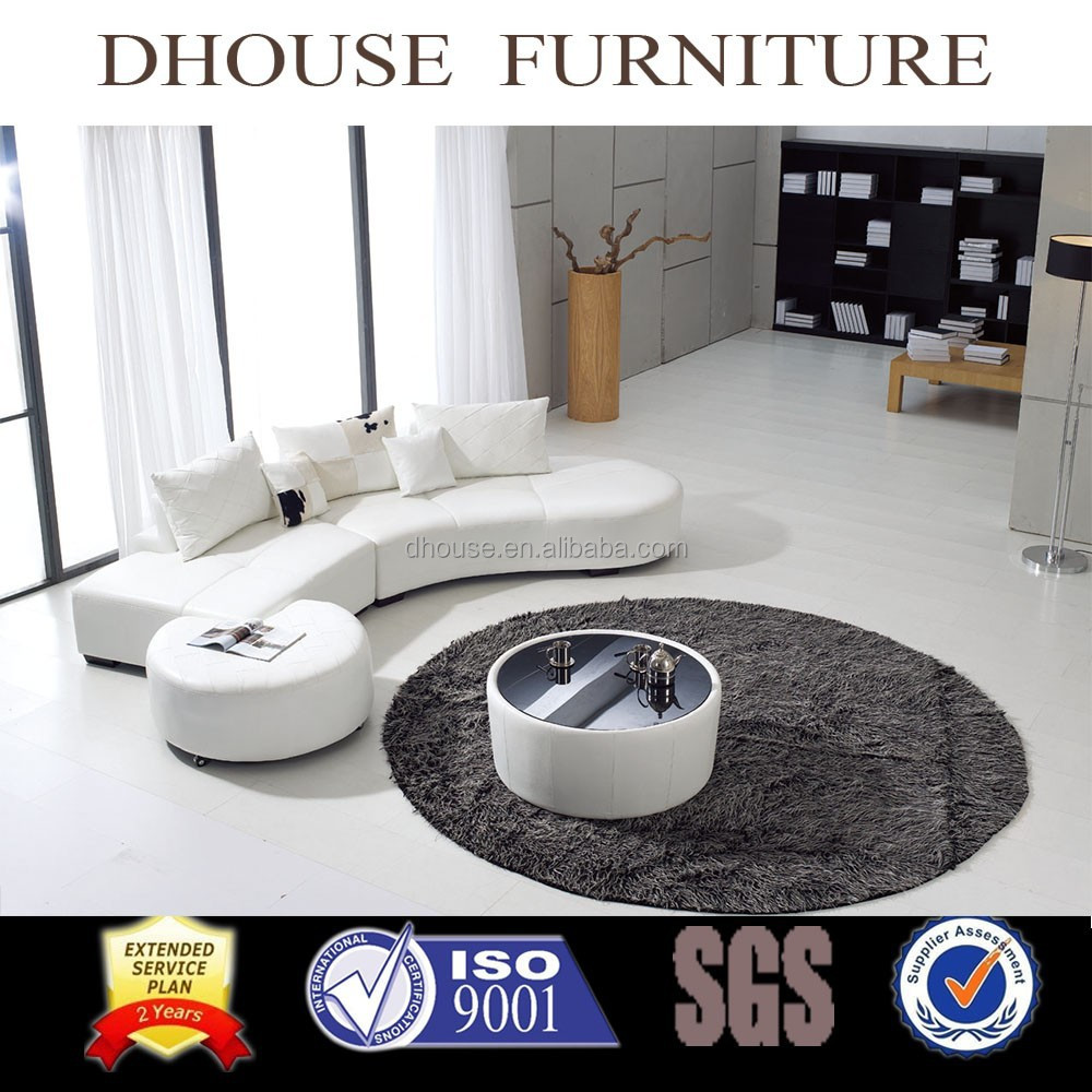 Astonishing Modern Half Round Corner White Leather Sofa Set With Ottoman And Coffee Table 8024 Buy Corner Sofa Set Designs Half Round Leather Sofa Italian Machost Co Dining Chair Design Ideas Machostcouk