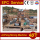 Mineral processing wet panning mill, gold ore dressing EPC processing plant