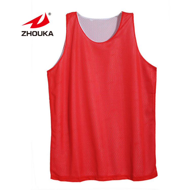 Sublimation Druck Logo Rot Weiß loungewear trainingsanzüge günstige basketball uniformen Reversible neue Basketball Jersey