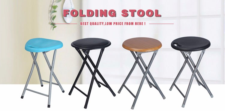 Simple Metal Frame Wooden Folding Stool Buy Folding